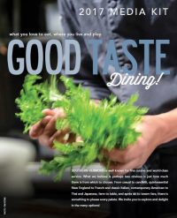 good taste dining guide rate card cover