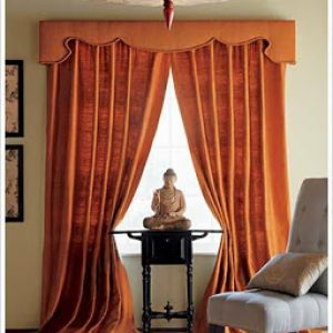 Large Orange Curtains