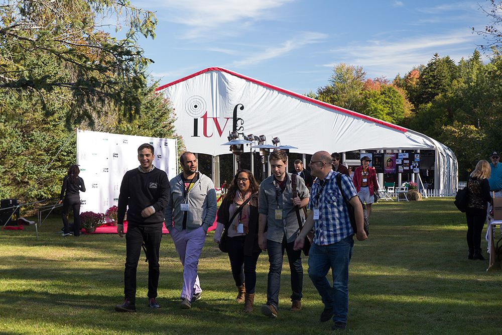 group of people at the itv independent television festival