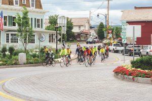 Bikers in Manchester Center Vermont