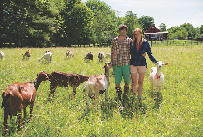 Lucas and Louisa with Goats