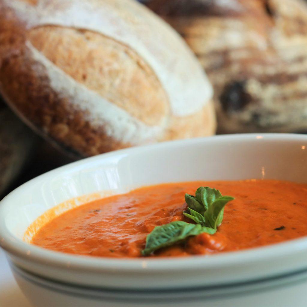 Bread and Tomato Soup at Dorset Rising