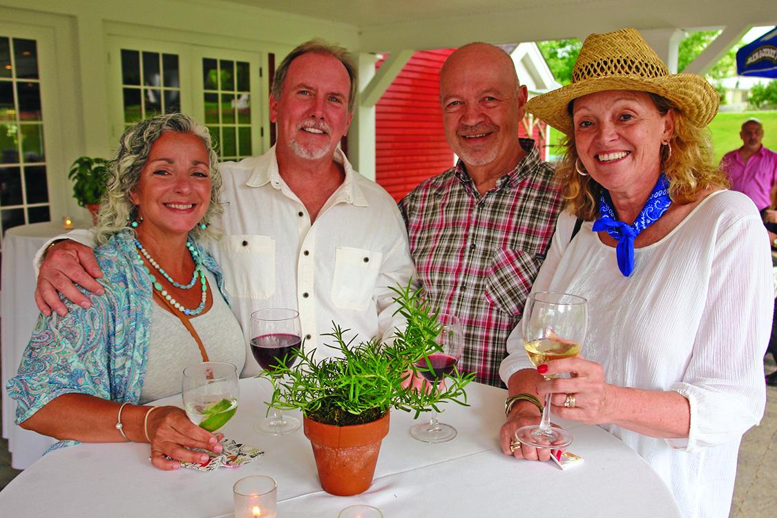 gathering at the barnyard ball