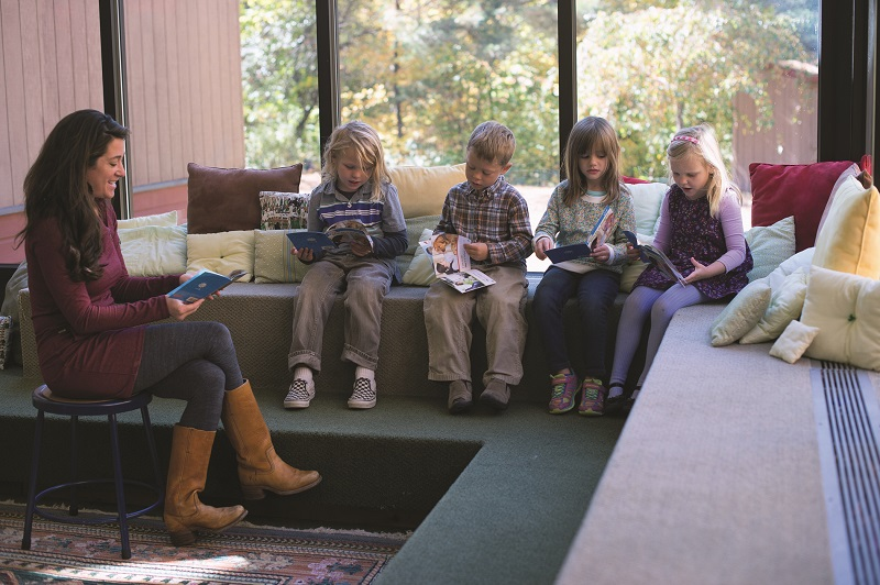 reading at the mountain school