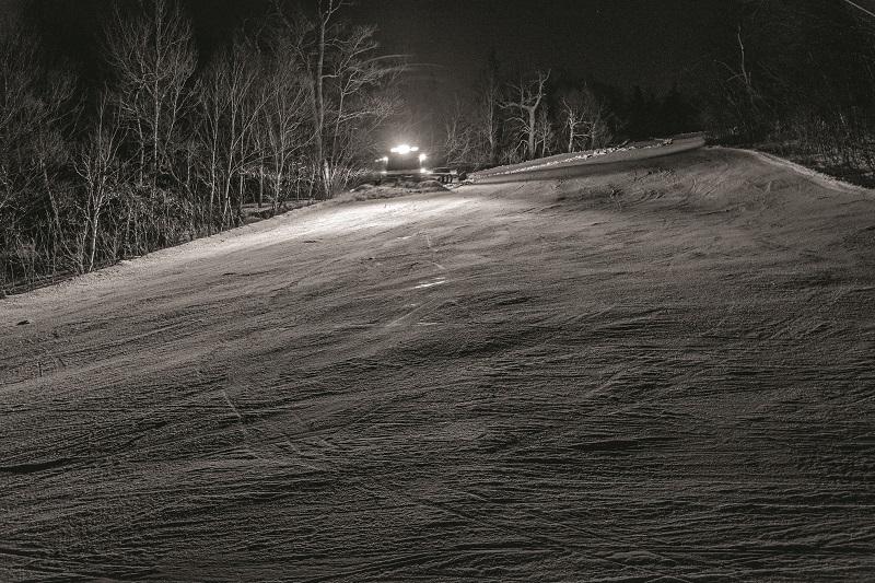snowcat at night