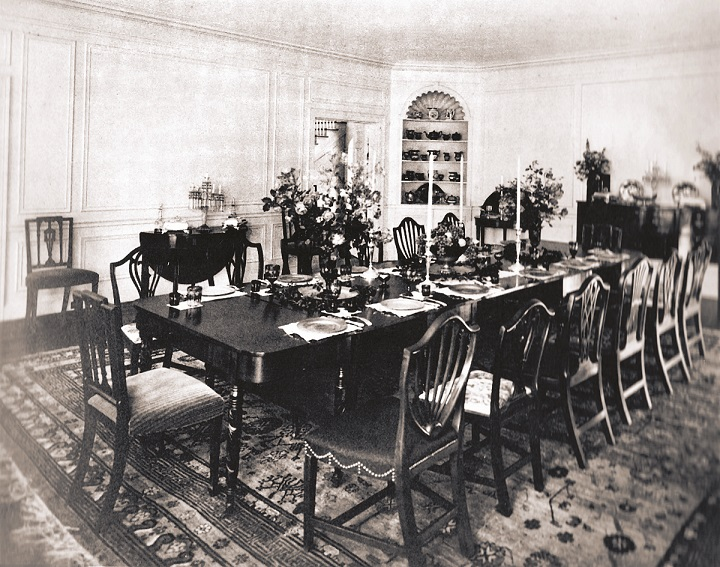 webster dining room yester house
