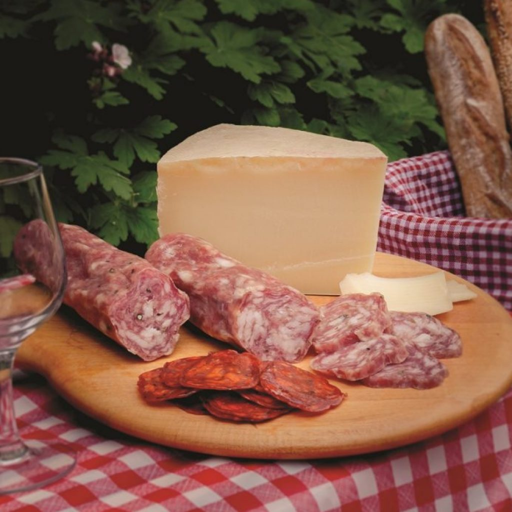 picnic with meat and cheese