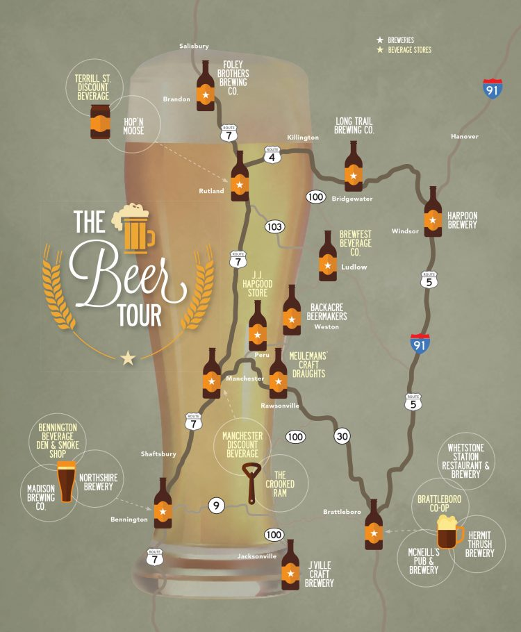 Vermont Breweries Map Beer and Breweries | Southern Vermont Tour | Stratton Magazine Vermont Breweries Map