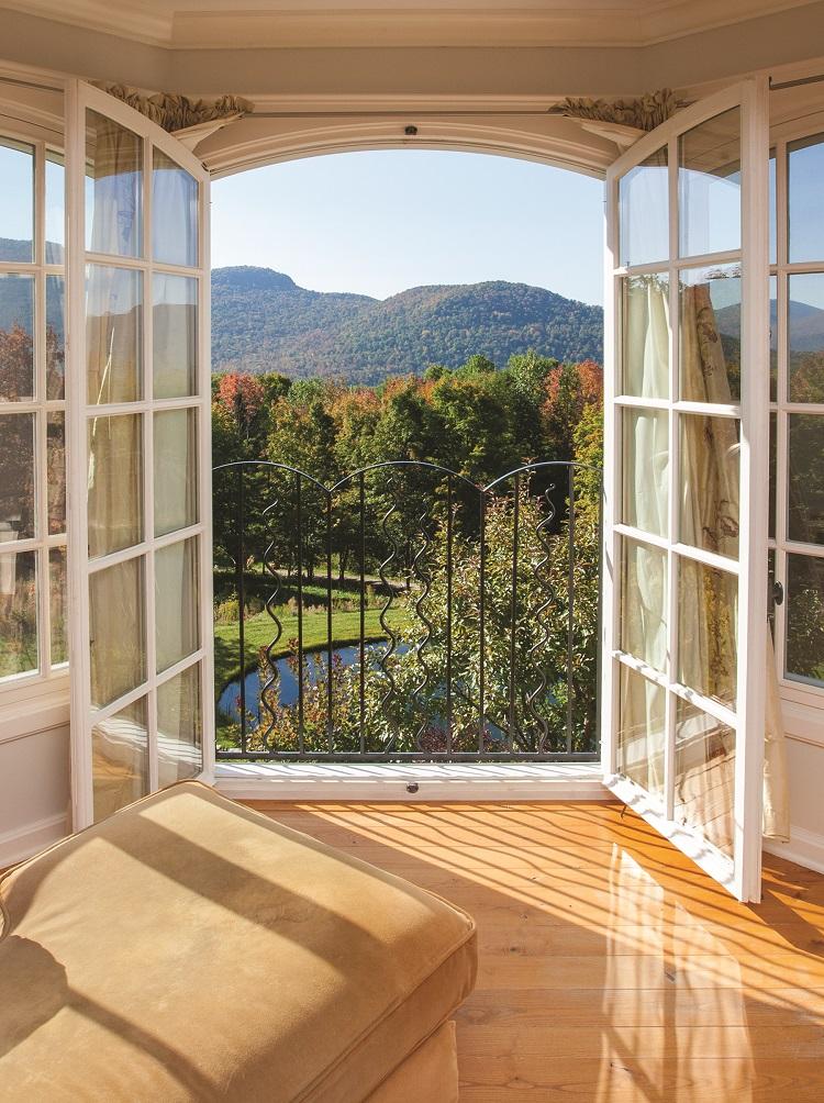 balcony view in autumn