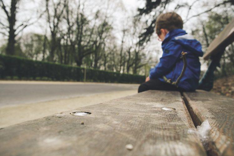 boy on bench