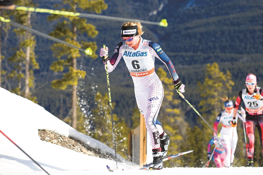 jessie diggins world cup skiathon