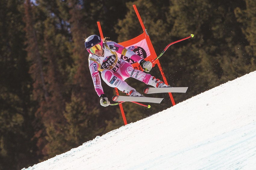 Alice Merryweather ski racing downhill