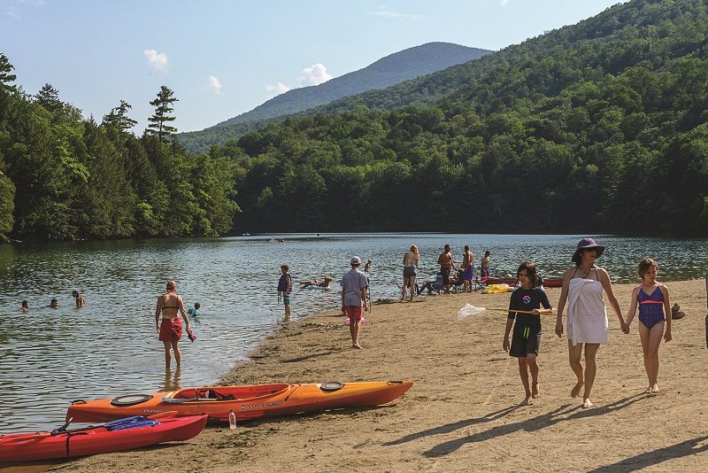 beach at emerald lake state park vermont