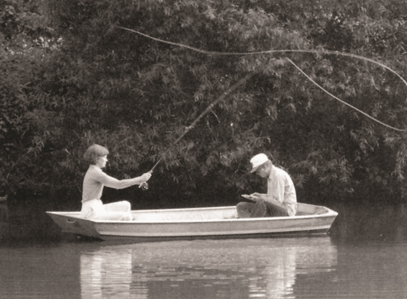 roslyn and jimmy carter fishing