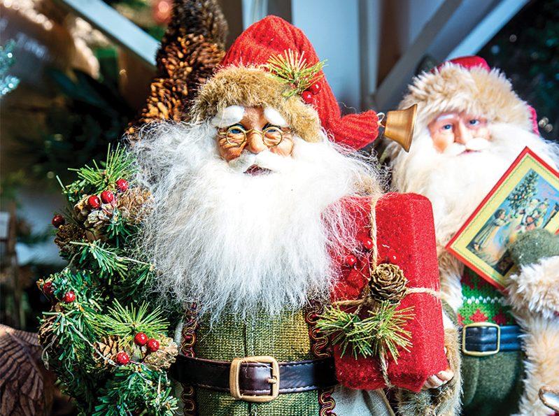 santa figurine at christmas days store