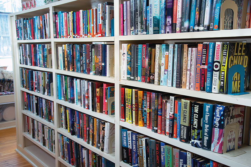 shelves filled with books at winhall memorial library
